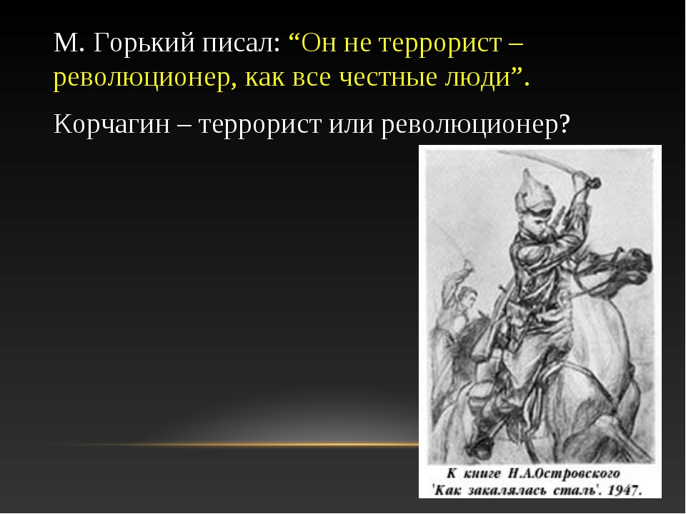 """М. Горький писал: """"Он не террорист – революционер, как все честные люди"""". Кор..."""