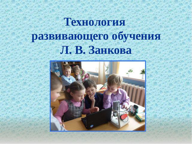 . Технология развивающего обучения Л. В. Занкова