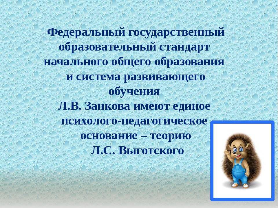 . Федеральный государственный образовательный стандарт начального общего обр...
