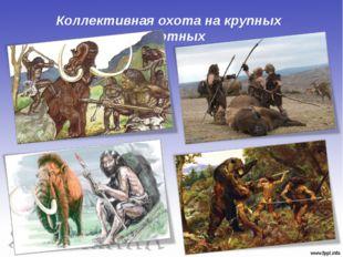 Коллективная охота на крупных животных