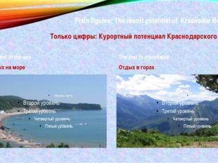 Plain figures: The resort potential of Krasnodar Region: Только цифры: Курорт