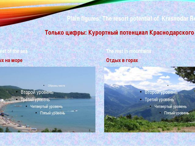 Plain figures: The resort potential of Krasnodar Region: Только цифры: Курорт...