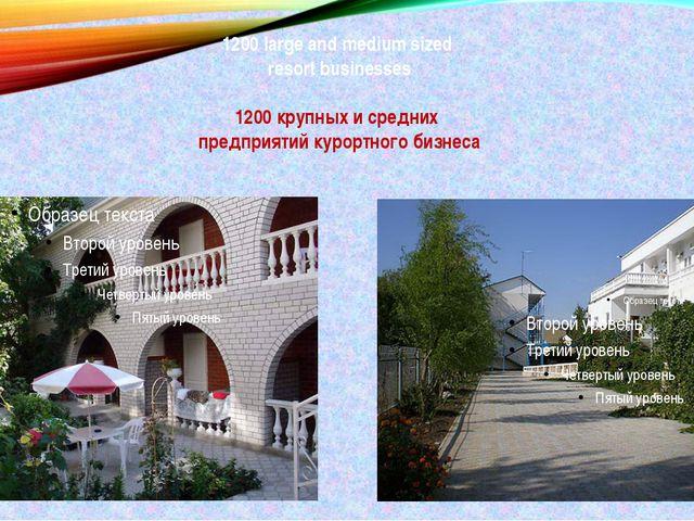 1200 large and medium sized resort businesses 1200 крупных и средних предприя...