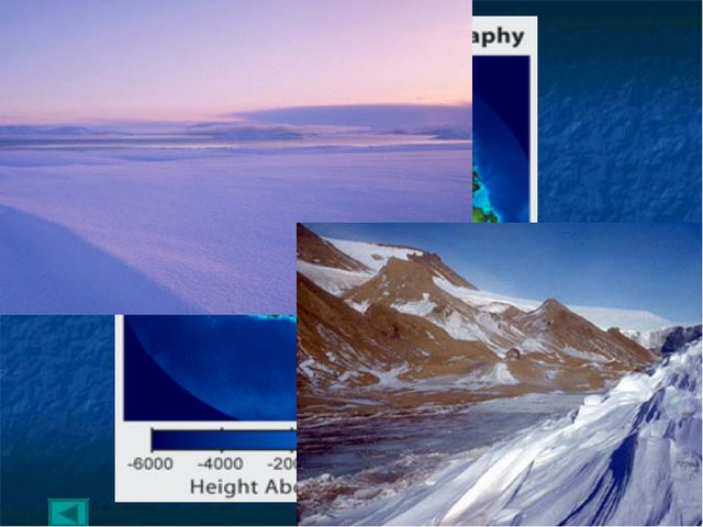 Антарктический п-ов -2555 Равнина Бэрда Антарктические горы 5,140 Массив Винс...