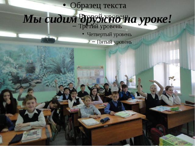 Мы сидим дружно на уроке!
