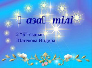 """Қазақ тілі 2 """"Б""""-сынып Шатекова Индира"""