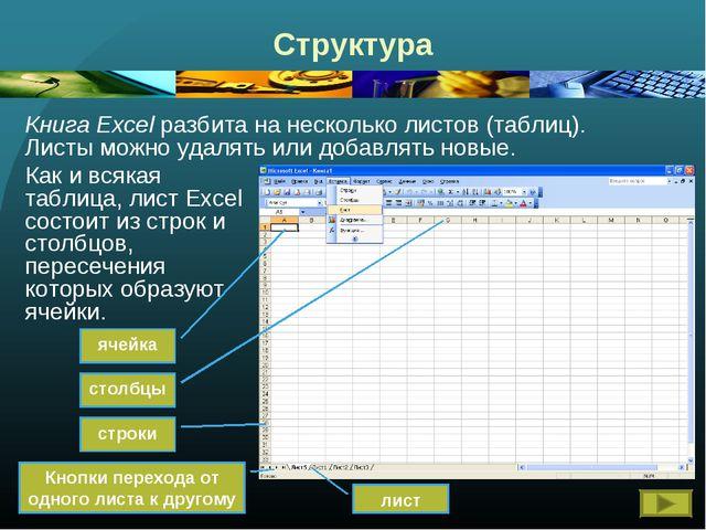 Таблицы шпаргалка электронные excel