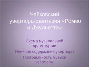 Чайковский увертюра-фантазия «Ромео и Джульетта» Схема музыкальной драматурги