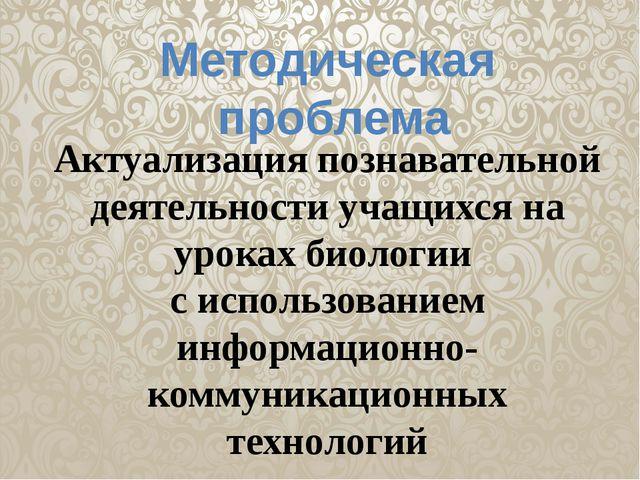 Методическая проблема Актуализация познавательной деятельности учащихся на ур...