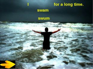 I for a long time. swam swum