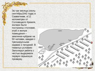 За три месяца (июль-сентябрь1942 года) в Савватиеве, в 12 километрах от Солов