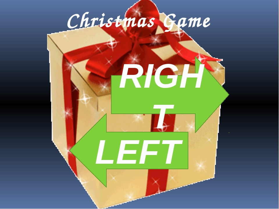Christmas Game RIGHT LEFT