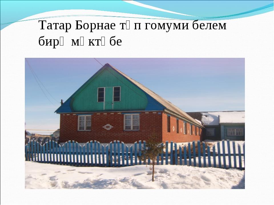 Татар Борнае төп гомуми белем бирү мәктәбе