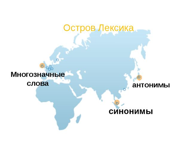 Остров Лексика антонимы синонимы Многозначные слова