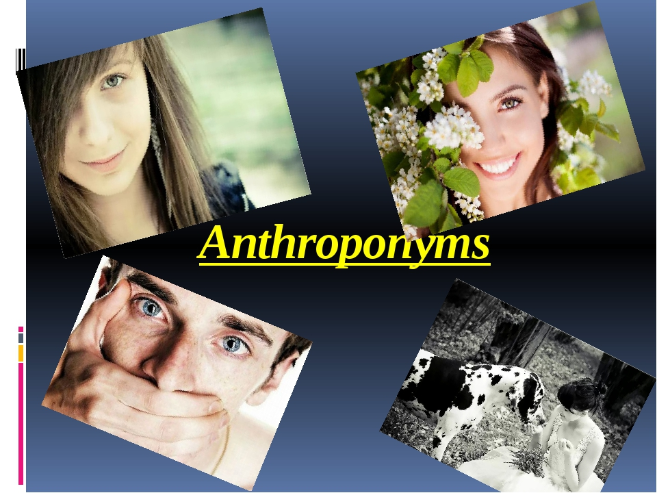 Anthroponyms