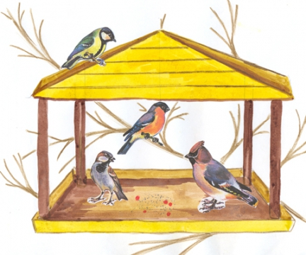 Птицы зимой (занятие по программе