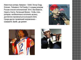 Известные рэперы Америки – Xzibit, Snoop Dogg, Eminem, Timbaland, Puff Daddy.