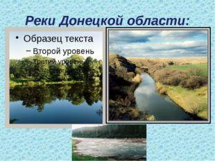 Реки Донецкой области: