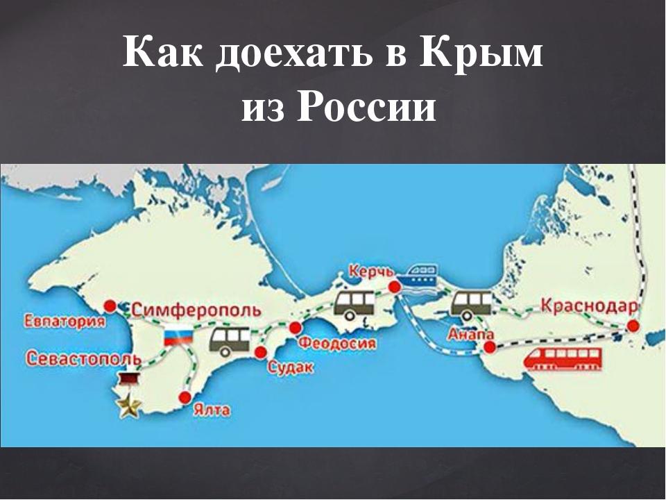 Как доехать в Крым из России