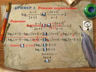 ПРИМЕР 3. Решите неравенство. Решение. -0,5 1 + _ + x