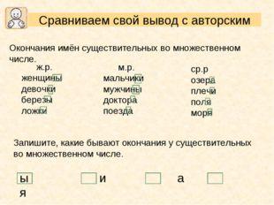 Окончания имён существительных во множественном числе. ср.р озера плечи поля