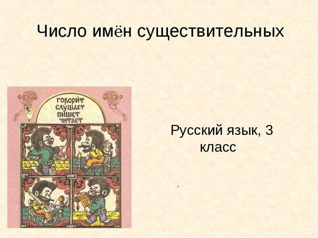 Русский язык, 3 класс Число имён существительных .