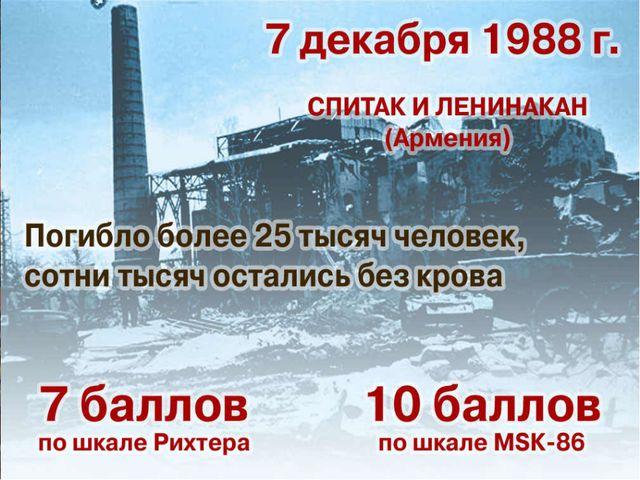 Армения 7 декабря 1988 года, на севере Армении произошло катастрофическое 9...