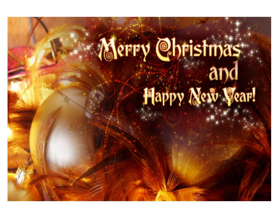 Поздравления happy new year and merry christmas