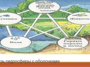 Связь гидросферы с оболочками