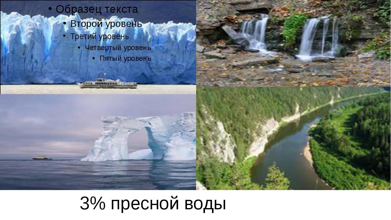 3% пресной воды