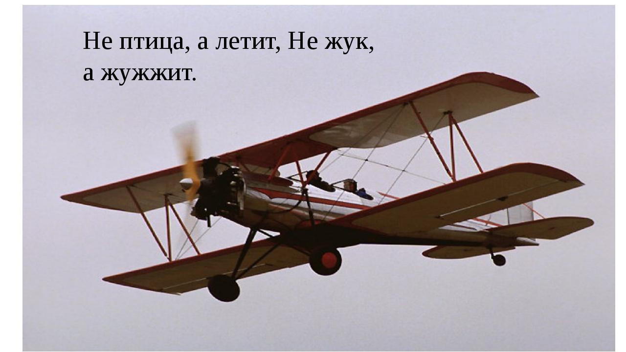 Не птица, а летит, Не жук, а жужжит.