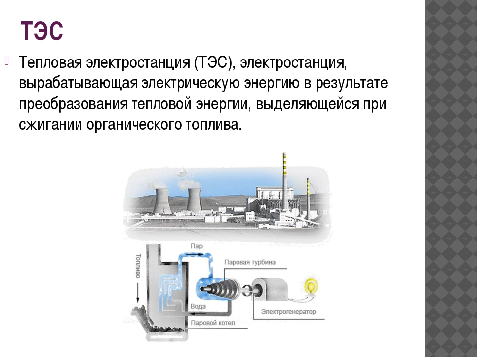 ТЭС Тепловая электростанция (ТЭС), электростанция, вырабатывающая электрическ...