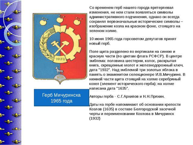 Со временем герб нашего города претерпевал изменения, не нем стали появляться...