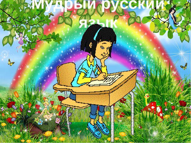 Мудрый русский язык