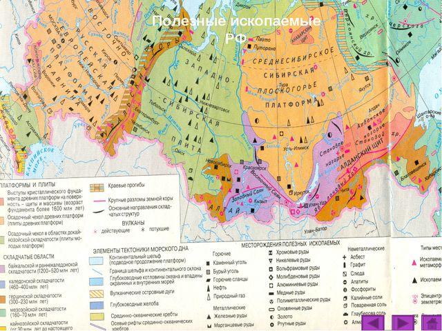 Полезные ископаемые РФ