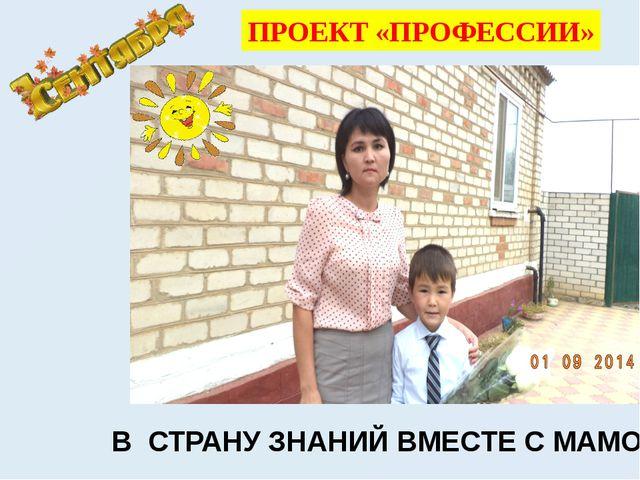 ПРОЕКТ «ПРОФЕССИИ» В СТРАНУ ЗНАНИЙ ВМЕСТЕ С МАМОЙ!