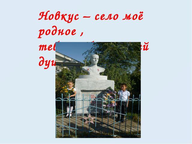 Новкус – село моё родное , тебя люблю я всей душою!