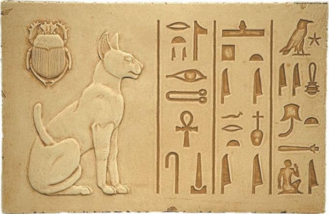 Священная кошка Египта. . Рыжий кот