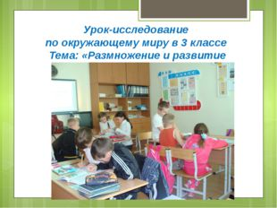 Урок-исследование по окружающему миру в 3 классе Тема: «Размножение и развити
