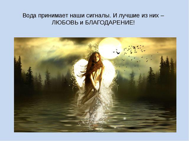 Вода принимает наши сигналы. И лучшие из них – ЛЮБОВЬ и БЛАГОДАРЕНИЕ!