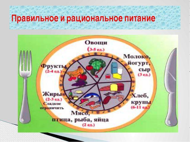 Правильное и рациональное питание
