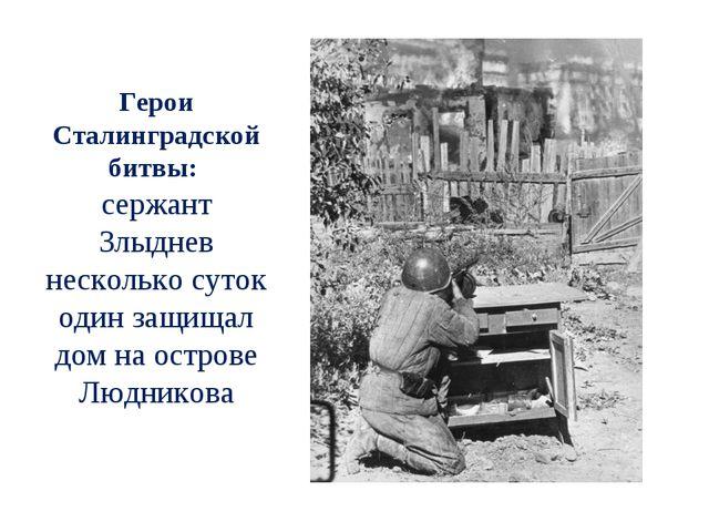 Герои Сталинградской битвы: сержант Злыднев несколько суток один защищал дом...