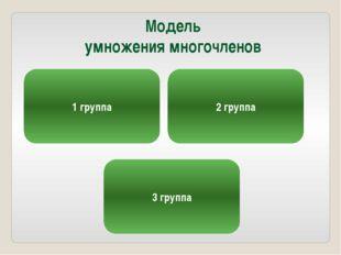Модель умножения многочленов 1 группа 2 группа 3 группа
