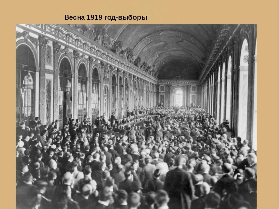 Весна 1919 год-выборы