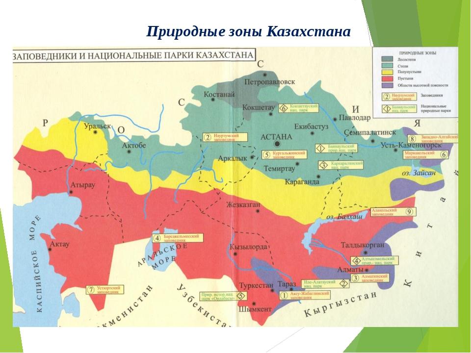 Природные зоны Казахстана
