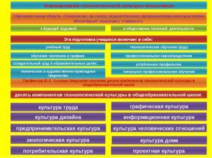 Формирование технологической культуры школьников Образовательная область «Тех