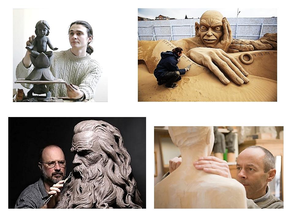 От материала зависит каким образом скульптор будет его обрабатывать. Если это...