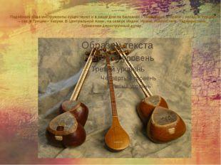 Подобного рода инструменты существуют и в наши дни на Балканах – тамбурица, в