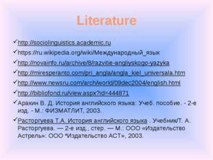 Literature http://sociolinguistics.academic.ru https://ru.wikipedia.org/wiki/