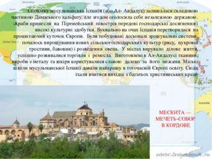 Спочатку мусульманська Іспанія (або Ал- Андалус) залишалася складовою частино